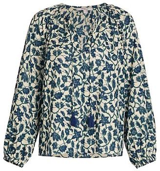 Derek Lam 10 Crosby Devon Floral Long-Sleeve Blouse