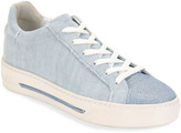 Rene Caovilla Flat Denim Strass-Toe Sneakers