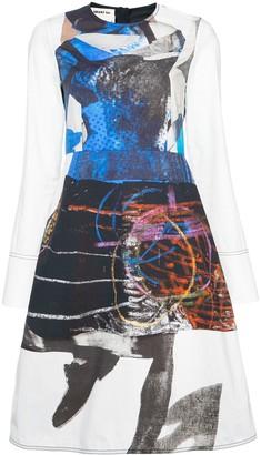 Marni Abstract print skater dress