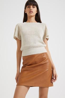 SABA Edith Flare Sleeve Crop Knit Top