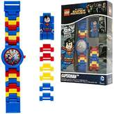Lego DC Comics Super Heroes Superman Kids Minifigure Link Buildable Watch | blue/red | plastic | 28mm case diameter| analogue quartz | boy girl | official