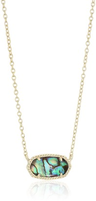 Kendra Scott Elisa Pendant Necklace for Women Fashion Jewelry 14k Gold-Plated