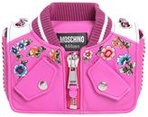 Moschino Bomber Floral Embroidered Leather Bag