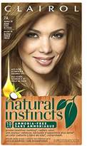 Clairol Natural Instincts Semi-Permanent Hair Color Kit (Pack of 3) 7A/ Color, Ammonia Free, Long Lasting