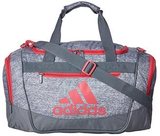 adidas Defender III Small Duffel (Grey Jersey/Grey/Real Pink) Duffel Bags