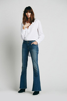 Free People Womens MID RISE SKINNY FLARE