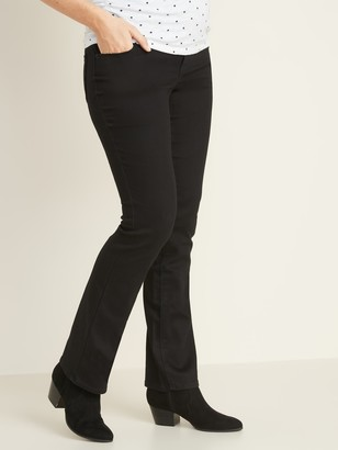 Old Navy Maternity Full-Panel Black Boot-Cut Jeans