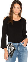 525 America Cut Out Shoulder Sweater in Black. - size M (also in S)
