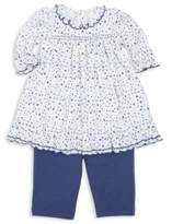 Kissy Kissy Baby's Two-Piece Petit Fleur Pima Cotton Dress& Leggings Set