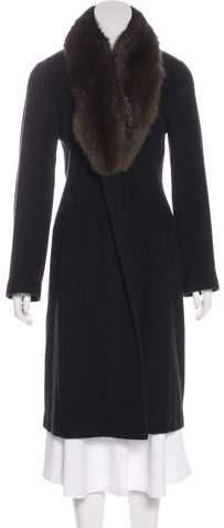 J. Mendel Sable-Trimmed Long Coat