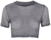 Topshop Airtex Crop T-Shirt