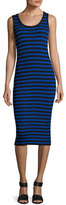 MICHAEL Michael Kors Striped Ribbed Tank Dress, Royal
