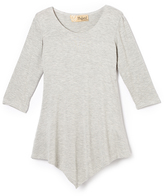Hybrid Heather Gray Handkerchief Tunic - Toddler & Girls