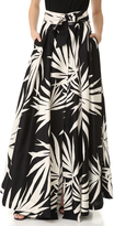 Milly Palm Print Jackie Maxi Skirt