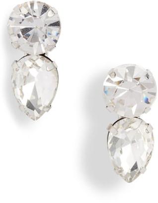 CRISTABELLE Two-Crystal Stud Earrings