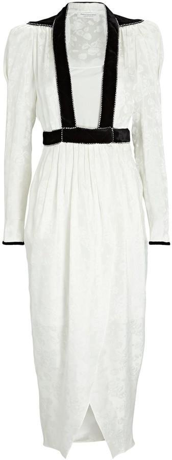 Philosophy di Lorenzo Serafini Floral Jacquard Midi Dress