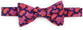 Ted Baker Paisley Silk Bow Tie, Navy/Coral