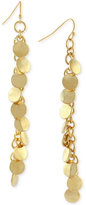 Vince Camuto Gold-Tone Linear Disc Drop Earrings