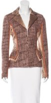 Roberto Cavalli Metallic Tweed Blazer