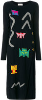 Peter Pilotto robot intarsia knitted dress
