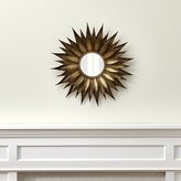 Crate & Barrel Sunflower Round Wall Mirror