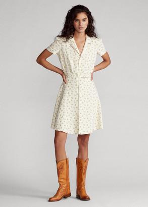 Ralph Lauren Floral Belted Linen Dress