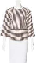 Tory Burch Striped Collarless Blazer