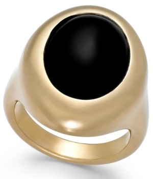 Signature Gold Onyx Teardrop Ring (2-1/2 ct. t.w.) in 14k Gold over Resin