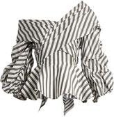 JOHANNA ORTIZ Santa Rosa off-the-shoulder cotton-blend top