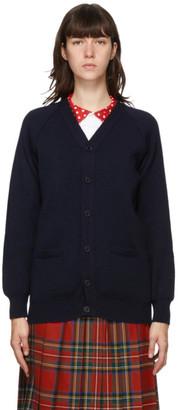 COMME DES GARÇONS GIRL Navy Lochaven of Scotland Edition Knit Cardigan