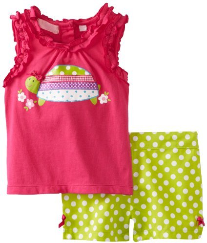 Kids Headquarters Girls 2-6X Top And Shorts Toddler