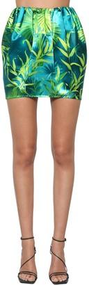 Versace Jungle Print Duchesse Puff Skirt