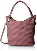 MG Collection Cutout Woven Bucket Bag