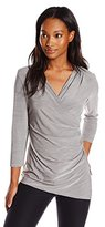 Calvin Klein Women's Long Sleeve Side Ruched Top