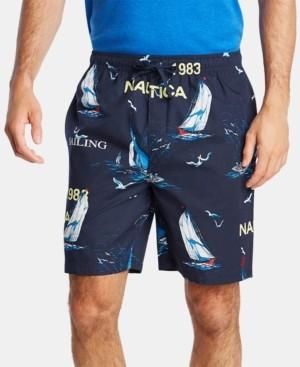 Nautica Men's Cotton Sailboat-Print Pajama Shorts