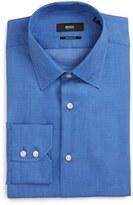BOSS Enzo Regular Fit Geometric Dress Shirt