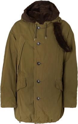 Visvim Wright Fleece-Trimmed Padded Cotton-Blend Parka