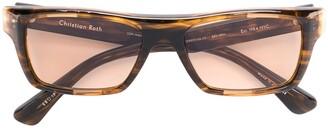 Christian Roth Rectangular Sunglasses