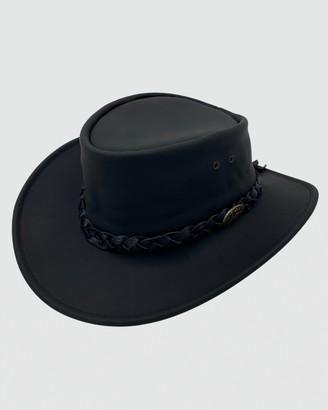 Jacaru - Black Hats - Jacaru 1069 Buffalo Leather Hat - Size One Size, XL at The Iconic
