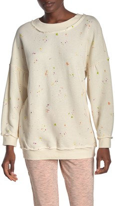 Free People Make It Count Printed Knit Pullover