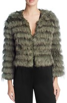 Alice + Olivia Fawn Channeled-Fur Jacket