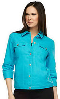 Denim & Co. As Is 3/4 Sleeve Colored Denim Jean Jacket
