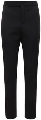 Saint Laurent 16.5cm Wool Pants W/ Satin Bands