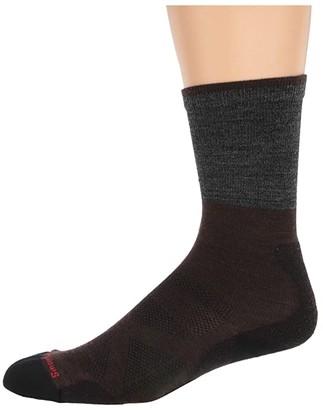 Smartwool PhD(r) Pro Approach Crew (Medium Gray) Men's Crew Cut Socks Shoes
