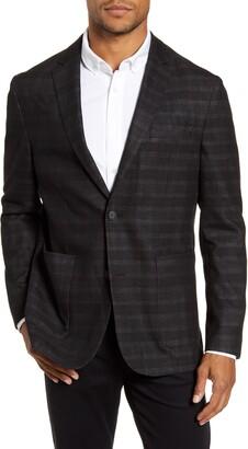 Vince Camuto Regular Fit Plaid Wool Blend Sport Coat