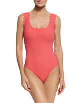 Karla Colletto Rick Rack Round-Neck Underwire One-Piece Swimsuit