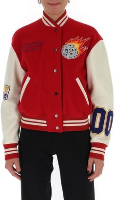 Off-White Colour Block Varsity Jacket