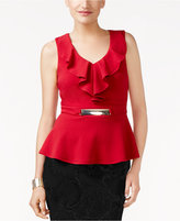 Thalia Sodi Hardware-Detail Peplum Top, Created for Macy's
