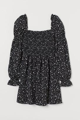 H&M Smock-detail Dress - Black