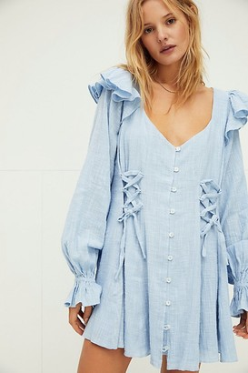 Free People In The Mood For Frills Mini Dress